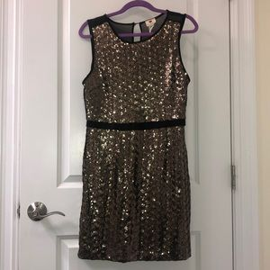 Gold Sparkly Holiday Dress